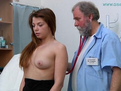Darkhaired Babe Needs Gyno Exam - Loreen Stegal