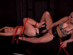 Deeply Fisted: Lesbian Dominatrix Penetrates Her Backdoor