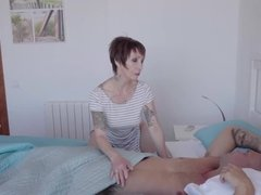 Short haired milf Catalya Mia takes a ferocious anal pounding