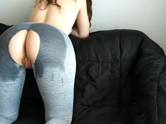 Step Sister Thirsty for Cock before Gym - Ripped and Oiled Yoga Pants - Elsa Rose