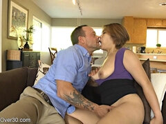 Busty cougar Lacey hardcore sex video