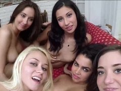 Ada Sanchez sucking pussies & getting dildoed by the sorority sisters