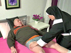 German grandma Nun get boinked with not dad in SexTape