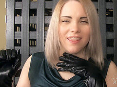 Leather, choking, pov