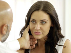 Young student Gracie Glam takes anal from older guy