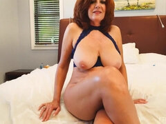 Horny GILF Andi James hot solo video