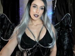 The Dark Angel Teases - fetish goth girl
