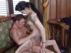 Goth chick has   fully hardcore sex