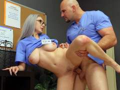 Nurse Dylann Vox gets fucked by Jmac standing