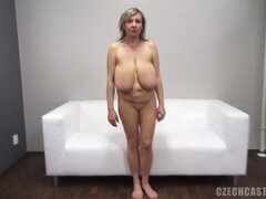 Old saggers - Big tits mature with saggy tits at POV hardcore casting