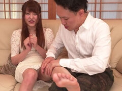 Lovely Mai Ogino is making a perfect Blowjob