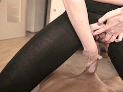 ash-blonde wifey CHEATS ON HER hubby WITH HER BLACK YOGA INSTRUCTOR AND HIS HUGE DICK