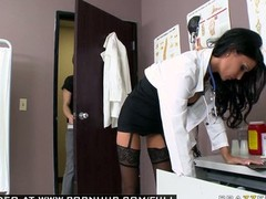 Sizeable Boob BRUNETTE Sexually available mom DOCTOR Blows off WITH LINGERIE.