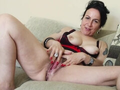 A compilation of lustful cougar and mature ladies being all alone