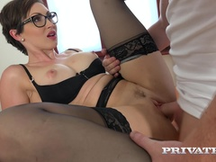 Yasmin Scott MILF and Secretary Gets Cum on Her Glasses
