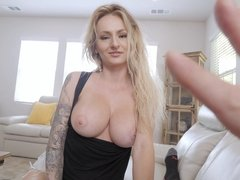 Busty mom Natasha Starr getting boned by her eager stepson