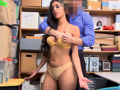 Latina 18yo schoolgirl thief gets caught stealing from a store