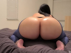 Papi fucked HOT juicy oily big booty BIMBO MILF neighbor in Ripped Jeans. His wife is clueless! OMG!