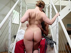 Busty housewife fucking her husband