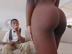 Ebony booty and ebony pussy fucked with giant dicks