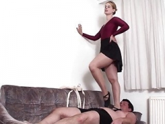 Female domination Fetish Babes trample slaves