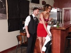 Well hung stud gets so damn lucky in the bar