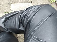 Black leather and boots
