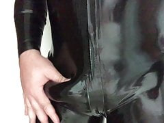 Me in latex catsuit