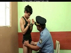 stud Is Interrogate And Have To jizz By Gay Officer queer porn gays gay cums