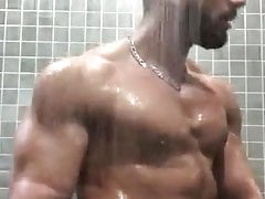 Hot muscle gym shower fuck