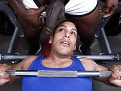 Vicious gym-based anal with Leo Silva and Aaron Trainer