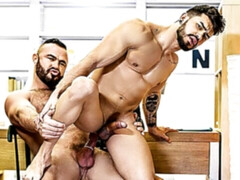 Office sex scene with hunks Jessy Ares and Pietro Duarte