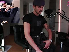 Fucking Fleshlight in Combat outfit on Liveshow straight swe