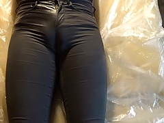 pissing in jeans