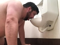 RYAN LICKS TOILET AND URINAL INCLUDING THE FLOOR UNDER THEM