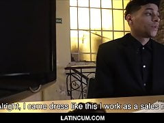 Amateur Straight Latino Boy Gay For Pay With Stranger POV