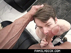 FamilyDick - Sweet guy Barebacked By His stepparent While Learning To exercise