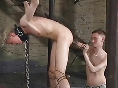 Sub Chained and Toyed then Fisted BDSM