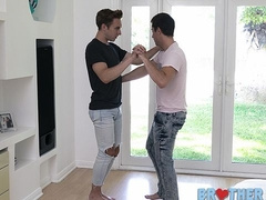 Dancing lessons and bareback anal with bros Wolfie Blue and Bar Addison