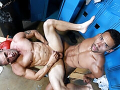 Impressive locker room fucking with Jay Alexander and Ceasar Camaro