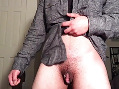 Jacking Off My Dick Wet With Precum