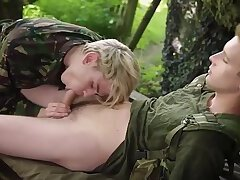 Army Dropouts Sc 1 Flip Flopping Army Boys Relish An Outdoor Fuck With Oodles Of Spunk 4172